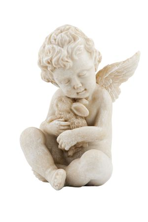 angel figure, isolated on white background photo