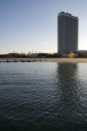 spiegelung: skyscraper in travemuende, germany