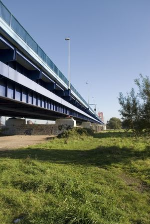 industrie: rhein river bridge duisburg, germany