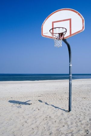 stola: Strand Basketball Lizenzfreie Bilder