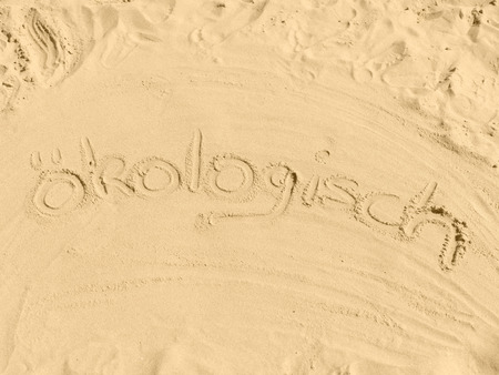 ecologically: Ecologically written in sand