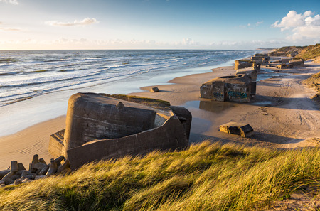 海岸のドイツのバンカー 写真素材