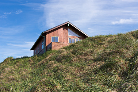 Holiday house in the dunes photo