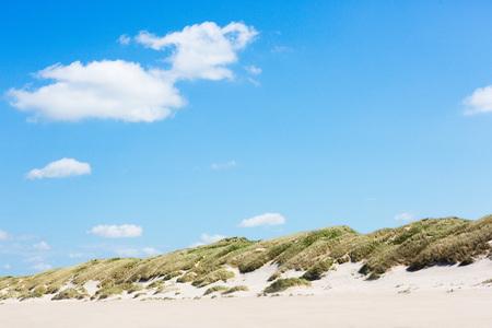 beach panorama: Beach panorama with dune