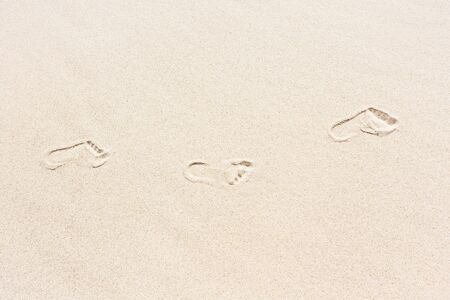 sea background: Footprints in the sand