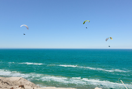 sea  ocean: Paragliding at the coast