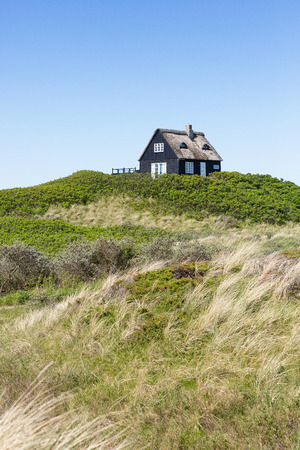 danmark: Typical thatched house in Denmark Editorial