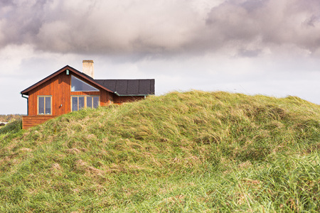 holiday house: Typical house in Denmark Editorial