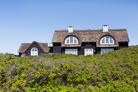 typical: Typical thatched house in Denmark Editorial