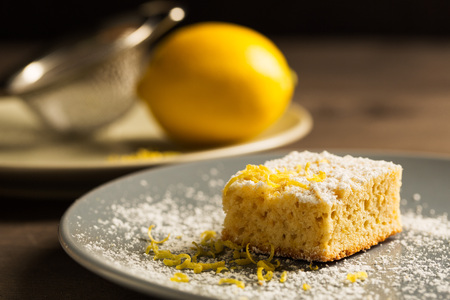 Sweet lemon cake Stock Photo