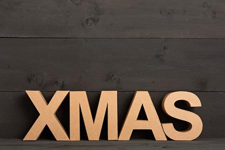 x mas: X MAS - christmas card Stock Photo