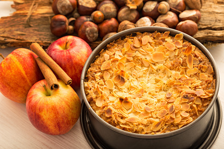 swedish: Swedish apple pie Stock Photo