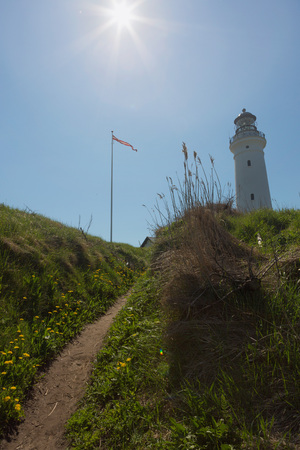 White lighthouse in the dunes