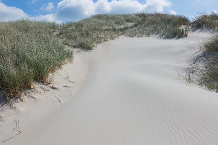 Way through the high Dünen on the beach Stock Photo