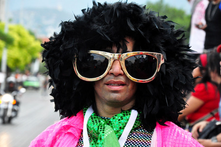 Young disguise during the Gay Pride in Monterrey