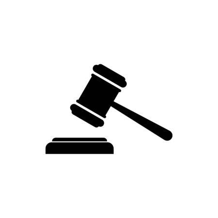 Gavel icon vector. Hammer icon vector. Judge Gavel Auction Icon. Bid Vettoriali