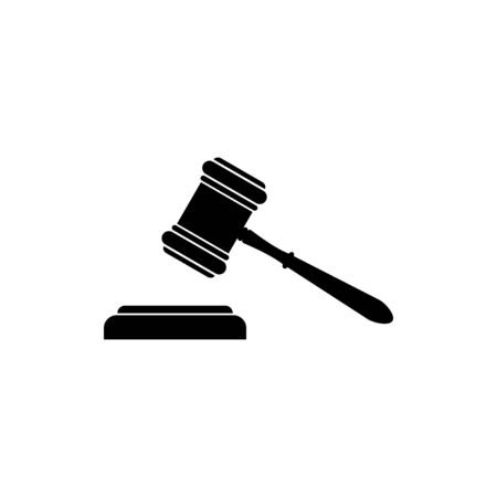 Gavel icon vector. Hammer icon vector. Judge Gavel Auction Icon. Bid