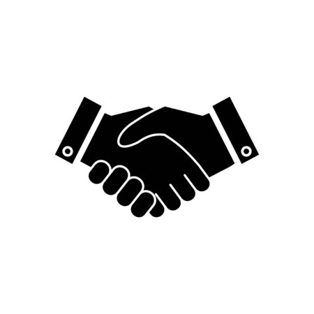 Business handshake. Handshake icon vector. contract agreement. Trust icon vector. Deal. Done. partnership icon