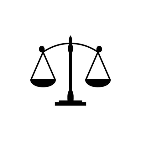 Scales icon isolated on white background. Law scale icon. Scales vector icon. Justice