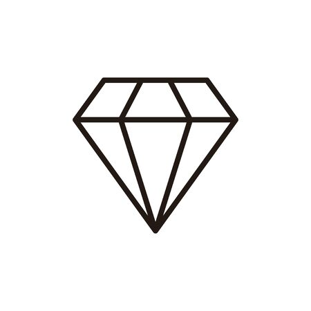 Diamond icon isolated on white background. Diamond vector icon. Gemstone symbol