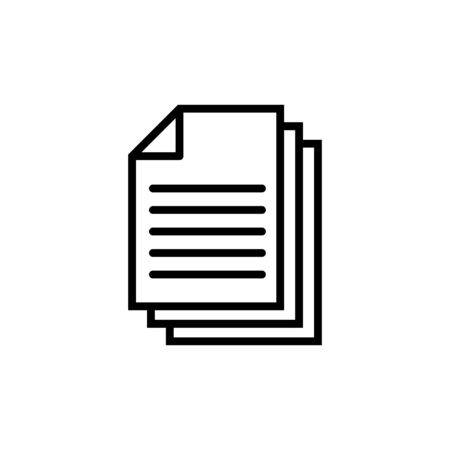 Document icon isolated on white background. Paper icon. File Icon