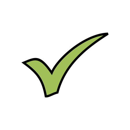 Check icon isolated on white background. check mark icon. check list button icon. Tick Vectores