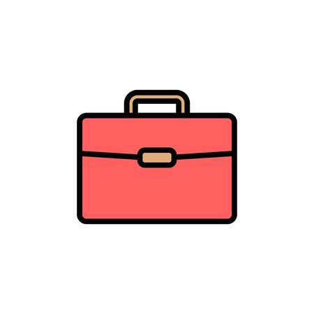 Briefcase icon isolated on white background. Briefcase vector icon