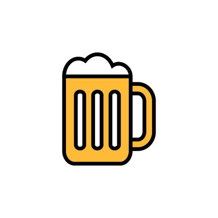 Beer icon isolated on white background. Beer Icon in trendy flat style