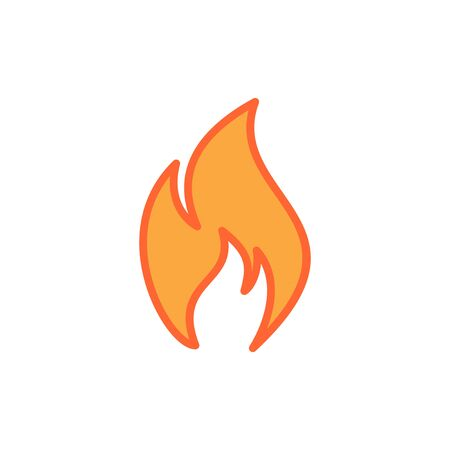Fire icon vector. Fire flame icon template. Fire flames symbol vector sign isolated on white background