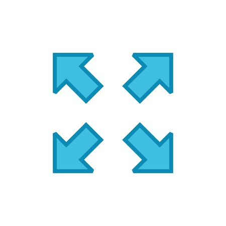 Fullscreen Icon isolated on white background. Expand to full screen icon for apps and websites. Fullscreen sign icon. Arrows symbol