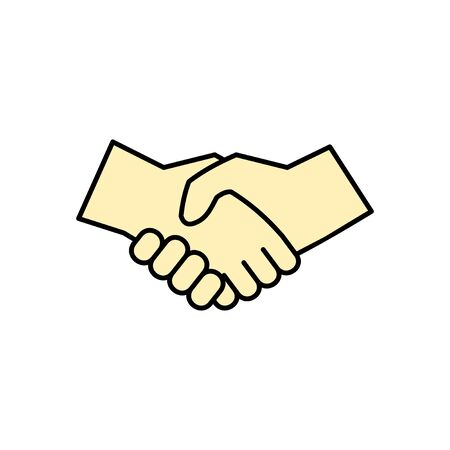 Business handshake. Handshake icon vector. contract agreement. Trust icon vector. Deal. Done. partnership icon Vectores