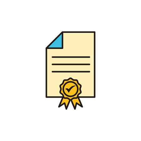 License icon isolated on white background. Approved or Certified Medal Icon