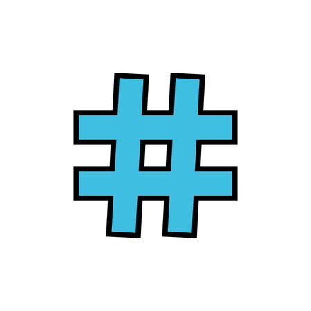 Hashtag icon vector isolated on white background. black hashtag icon Vectores