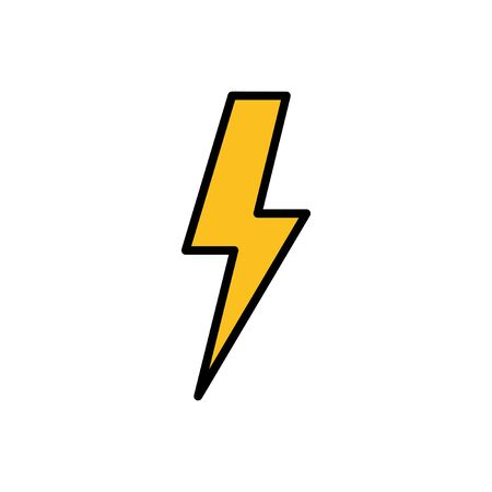 Lightning icon isolated on white background. Bolt icon vector. Energy and thunder electric icon Vectores