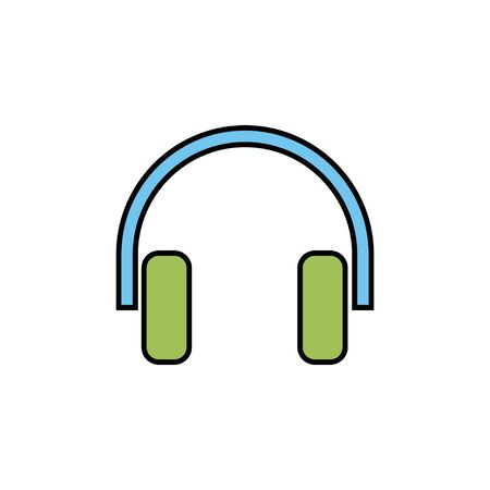 Headphone icon isolated on white background. Headphone vector icon. Call us