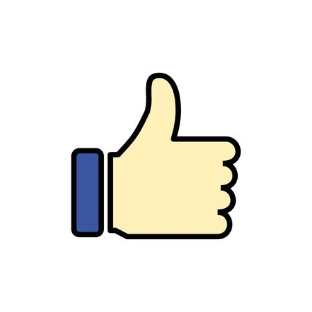 like icon isolated on white background. Thumbs up icon. social media icon Vectores