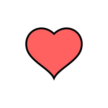 Heart icon isolated on white background. Heart vector icon. Like icon vector. Love