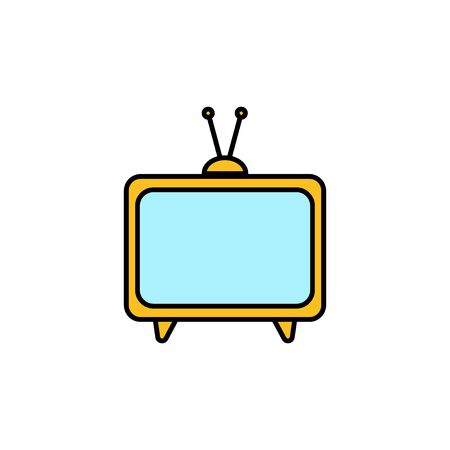 TV vector icon isolated on white background. Television icon Vectores