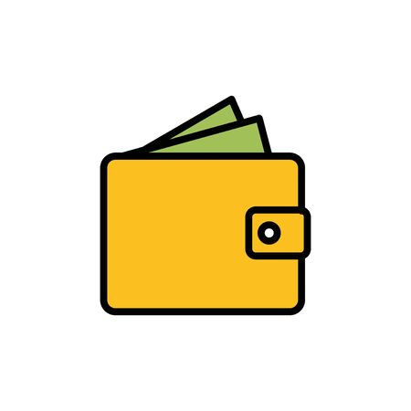 Wallet Icon in trendy flat style isolated on white background. money wallet icon