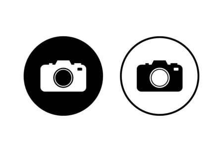 Camera Icons set isolated on white background. Camera symbol. Camera vector icon