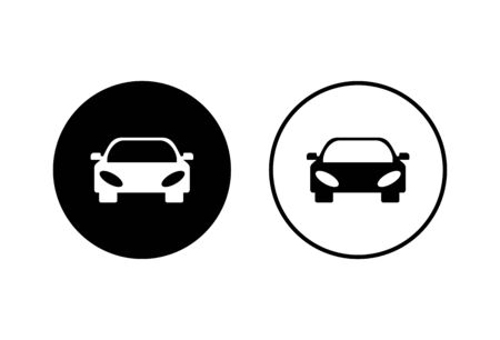 Car icons set on white background. Car icon vector Vectores