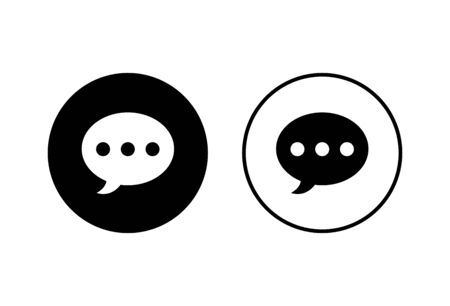 Chat icons set on white background. Chat vector icon. Speech bubble