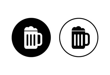 Beer icons set on white background. Beer Icon in trendy flat style Vectores