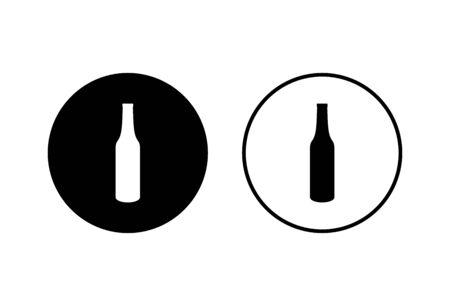 Bottle icons set on white background. Bottle icon in trendy flat design
