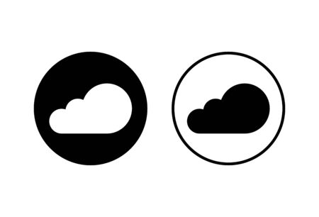 Cloud icons set vector on white background. cloud computing icon