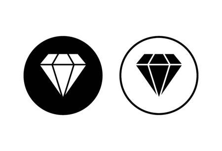 Diamond icons set on white background. Diamond vector icon. Gemstone symbol
