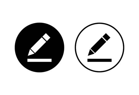 Edit icons set on white background. Pencil icon. sign up Icon vector