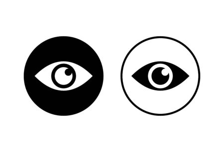 Eye icons set on white background. Look and Vision icon. Eye vector icon Vectores