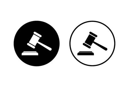 Gavel icons set on white background. Hammer icon vector. Judge Gavel Auction Icon Vector. Bid Foto de archivo - 150096386
