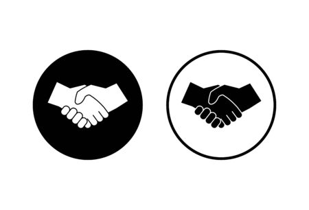 Handshake icons set on white background. Business handshake. contract agreement. Trust icon vector. Deal. Done. partnership icon
